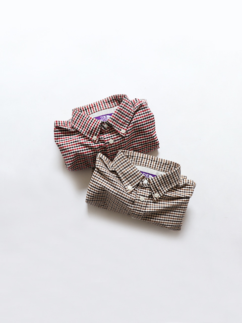 THE NORTH FACE PURPLE LABEL (ザ ノースフェィス パープルレーベル) Cotton Polyester OX Check B.D Shirt (チェックBDシャツ)