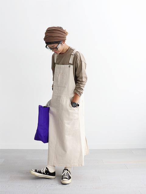 ≪Special Order≫ HATSKI (ハツキ) ジャンパースカート - Ecru