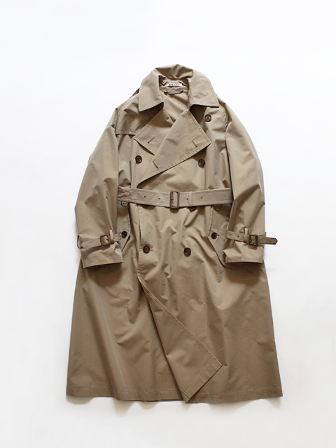 AURALEE (オーラリー) FINX POLYESTER BIG TRENCH COAT (トレンチコート)