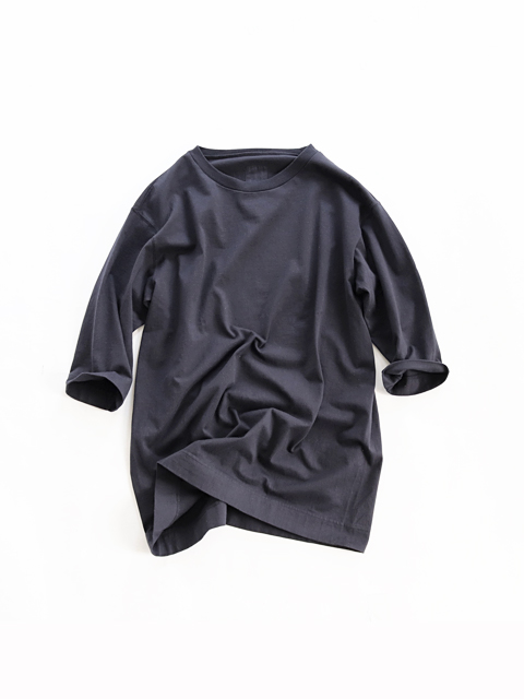 TOUJOURS (トゥジュー) 3/4Sleeve Big T-shirt - GARMENT DYE CALIFORNIA COTTON LOOPWHEELER JERSEY - LM30XC05