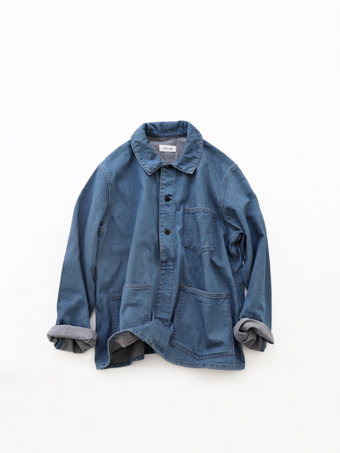 chimala (チマラ) 20'S ARMY DENIM PULLOVER - LIGHT BLUE
