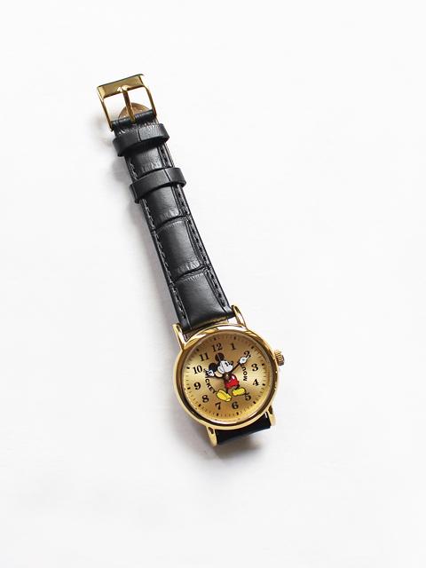 MICKEY MOUSE ミッキーマウス腕時計 - 革ベルト