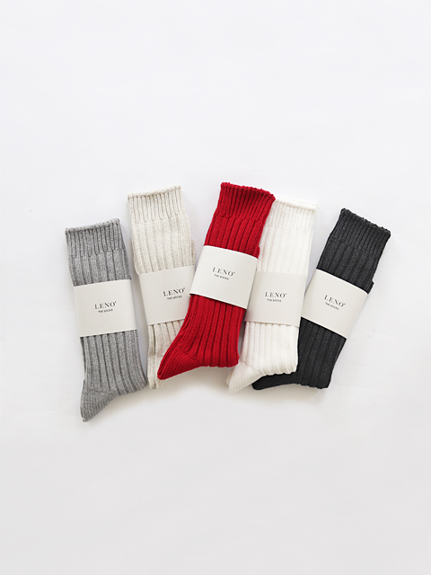 LENO (リノ) Cotton Rib Socks - BIG