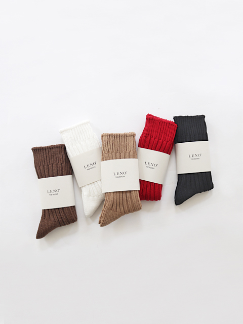 LENO (リノ) Cotton Rib Socks - SMALL