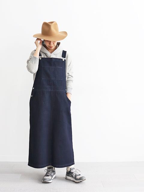 【予約販売】 ≪Special Order≫ HATSKI (ハツキ) ジャンパースカート - Denim (10月下旬頃お渡し予定)