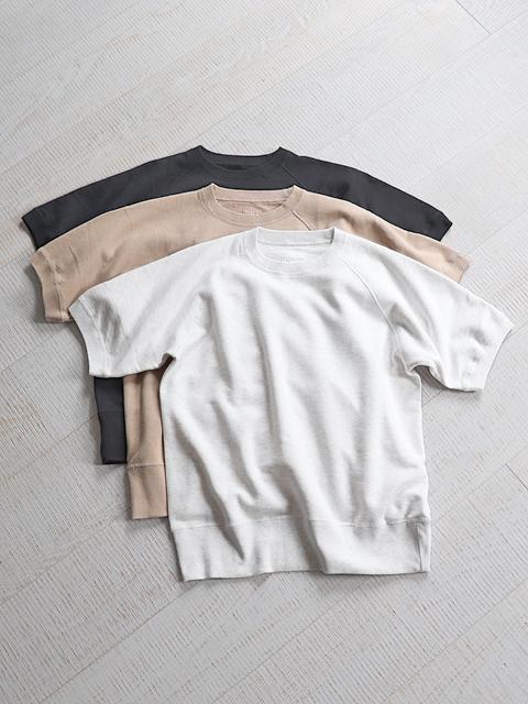 TOUJOURS (トゥジュー) Half Sleeve Pullover (半袖スウェット)