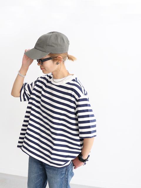 【20%OFF】maillot (マイヨ) Border Flair S/S Tee (ボーダーフレアー半袖Tee) MAC-19118