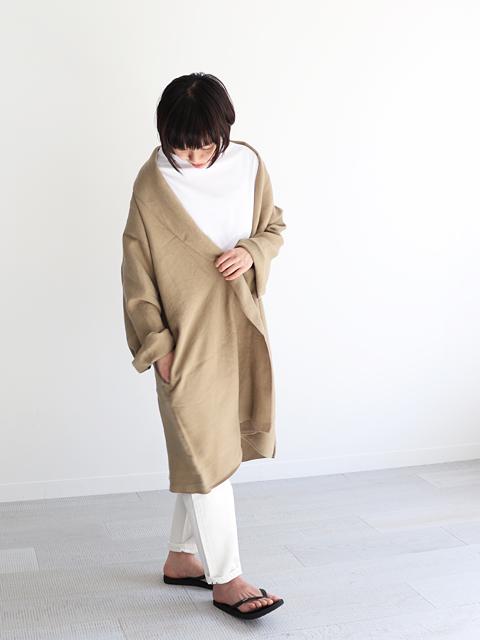 """【60%OFF】 maillot (マイヨ) """"mature"""" Powdery Linen Slip Coat (リネン・スリップコート) MAO-19154"""