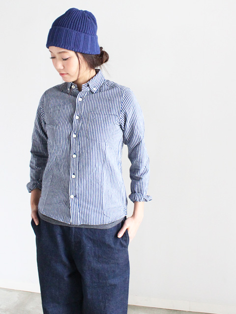 maillot (マイヨ)  Sunset Stripe B.D. Shirts (ストライプB.D.)