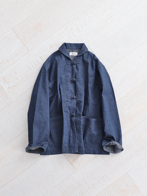 chimala (チマラ) DENIM MANDARIN JACKET - INDIGO