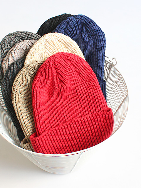 maillot (マイヨ)  recycled cotton watch CAP (コットンワッチ)