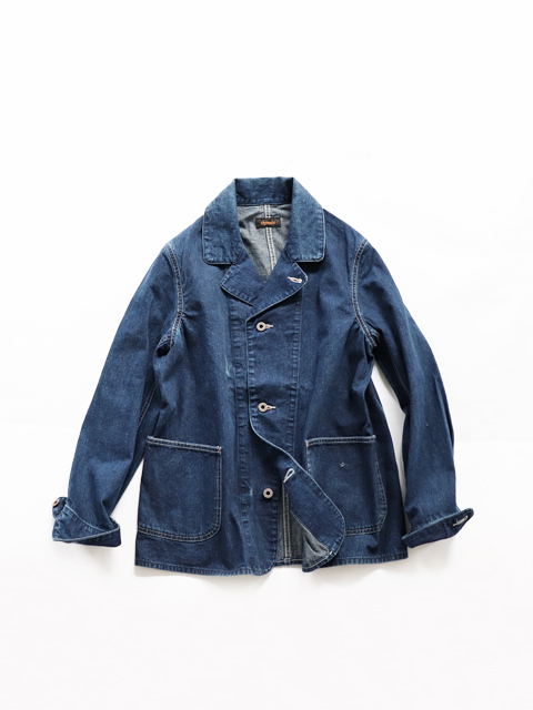chimala (チマラ) DENIM WORK JACKET - DARK DISTRESS