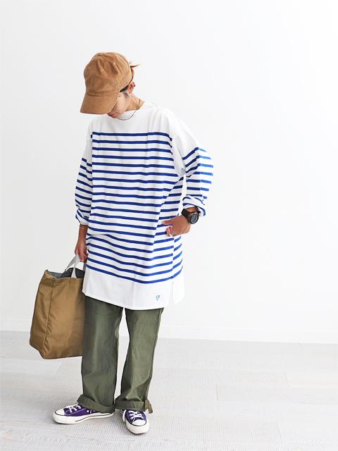 ORCIVAL (オーシバル) ラッセル フレンチセーラーTシャツ - Big Size