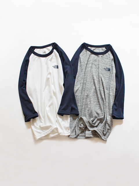 THE NORTH FACE (ザ ノースフェイス) 3/4 Heather Raglan Tee (ラグランTee)