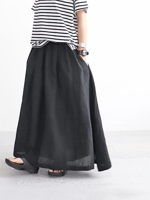 SOIL (ソイル) リネン・ギャザースカート
