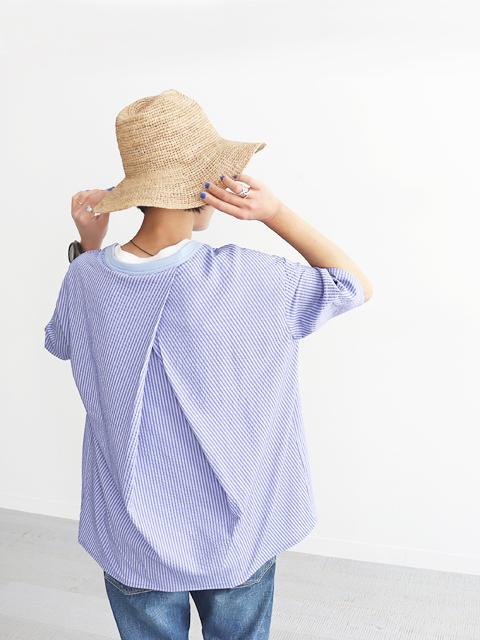 maillot (マイヨ) Sucker W's Half Sleeve Shirt-Tee (バックタック・サッカーTee) MAS-20117