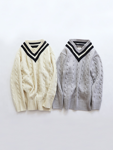 TOUJOURS (トゥジュー)  Cricket Sweater - EXTRA FINE MERINO WOOL*CASHMERE KNIT - VM29XK05