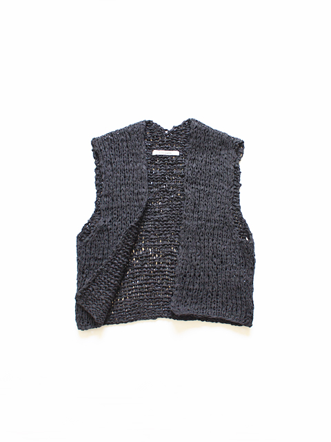 TOUJOURS (トゥジュー) Gilet - FINE COTTON TAPE YARN KNIT