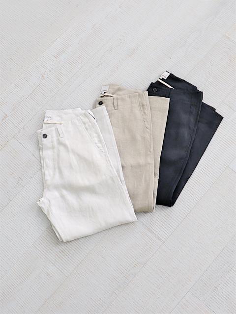 【20%OFF】Honnete (オネット) Linen Chino Trousers - アイリッシュリネン・チノ トラウザー