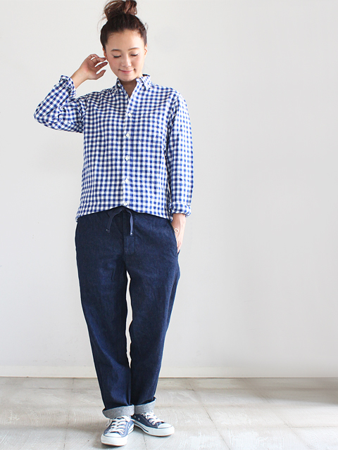 maillot (マイヨ)  sunset big gingham B.D. shirts (ビッグギンガム・B.D)