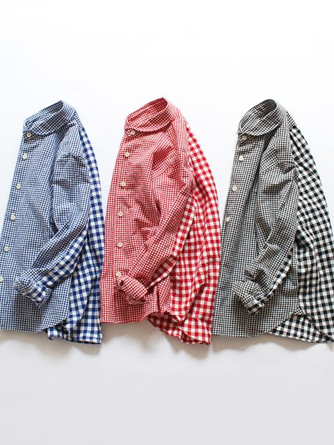 maillot (マイヨ) Lady Combi Shirt - Gingham (ギンガム・コンビシャツ) MAS-18212