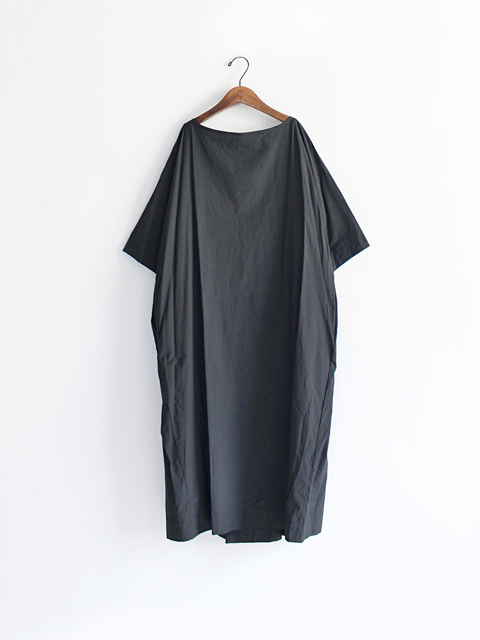 TOUJOURS (トゥジュー)  Boat Neck Wrap Back Shirt Dress - HIGH COUNT COTTON WEATHER CLOTH - TM28SD02