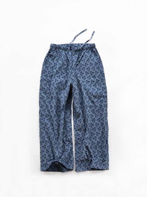 TOUJOURS (トゥジュー) Relax Pants / CORDUROY FLORAL PRINT - KM31GP03