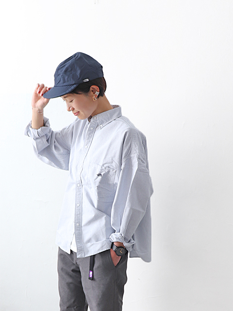 THE NORTH FACE PURPLE LABEL (ザ ノースフェィス パープルレーベル) Cotton Polyester Stripe OX B.D. Shirt (ストライプシャツ)