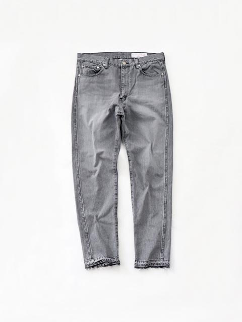 Americana (アメリカーナ) テーパード5Pジーンズ - BLACK USED加工