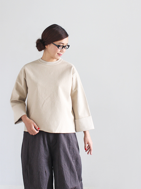 AURALEE (オーラリー) SUPER MILLED SWEAT CUT-OFF P/O