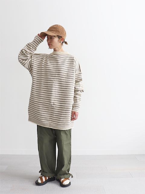 Le Tricoteur (ル トリコチュール) ウール・ガンジーセーター - Big Size