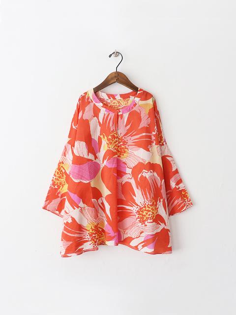 adeu (アデウ) 大花柄・ワイドプルオーバーシャツ