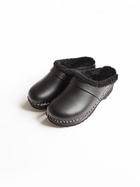 Needles×TROENTORP (ニードルズ×トロエントープ) Swedish Clog - Plain toe/Sheep Skin Lining
