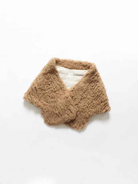 TOUJOURS (トゥジュー) Shawl - EXTRA FINE BABY CAMELl*SILK FURRY CLOTH - VM29PA03