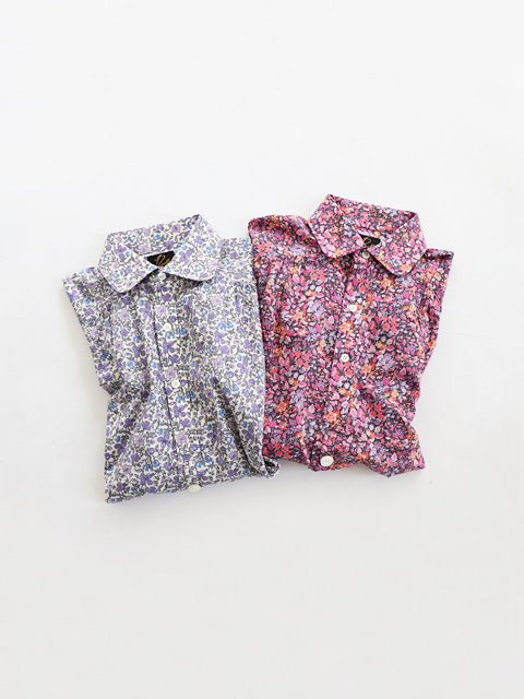 Needles (ニードルズ)  Round Collar EDW Gather Shirt - Liberty Print (リバティ柄/丸襟)