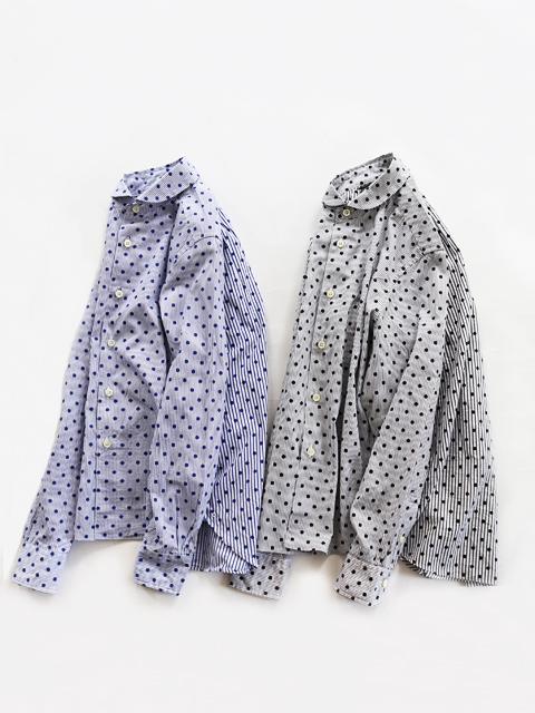 maillot (マイヨ) Lady Combi Shirt - ストライプ×ドット・コンビシャツ MAS-19223