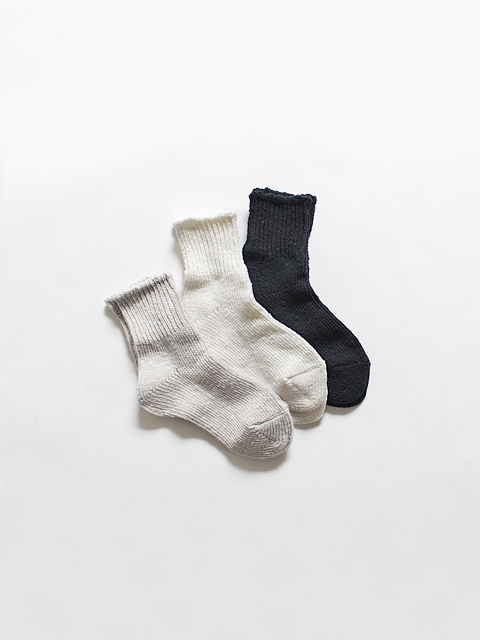 TOUJOURS (トゥジュー)  Bulky Yarn Cotton Ankle Rib Socks