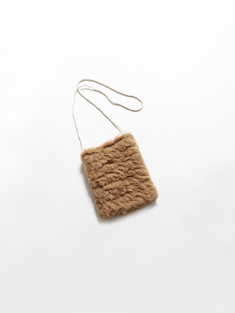 TOUJOURS (トゥジュー) Pochette - EXTRA FINE BABY CAMELl*SILK FURRY CLOTH - VM29PA05