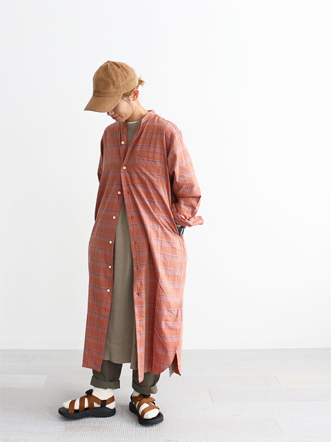 "maillot (マイヨ) ""mature"" Twill Check Stand Shirt OP (ツイルチェック・シャツワンピース) MAS-20259-1"