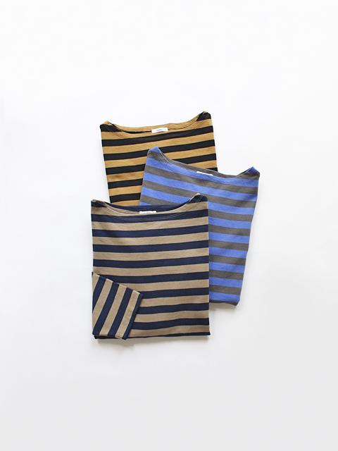 maillot (マイヨ) Border Drop Shoulder  T-shirts (ドロップショルダー・ボーダーTee/七分袖) カラーVer. MAC-15145
