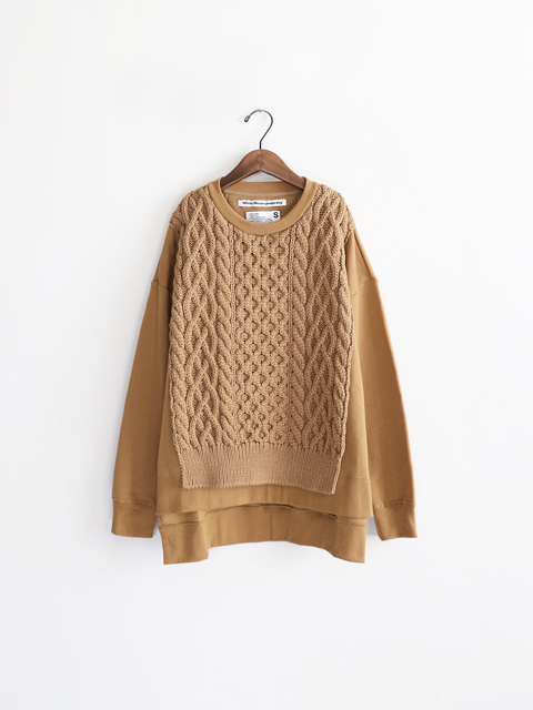 White Mountaineering (ホワイトマウンテニアリング) CONTRASTED KNIT SWEATSHIRT (コンビスウェット)