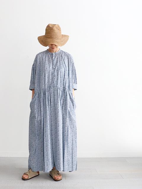TOUJOURS (トゥジュー) Half Sleeve Classic Gathered Dress (小花柄ワンピース)