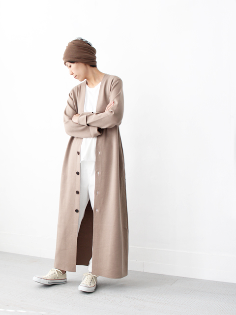 AURALEE (オーラリー) WOOL SUPER HIGH GAUGE SMOOTH KNIT MAXI CARDIGAN  (マキシ丈カーディガン)
