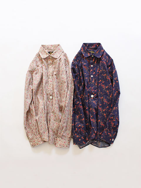 Needles (ニードルズ) Round Collar EDW Gather Shirt - Liberty Print (丸襟)