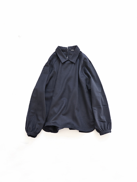 "maillot (マイヨ) ""mature"" Wool Flannel Mini Color Smock Shirt (ウール・スモックシャツ) MAS-18226"