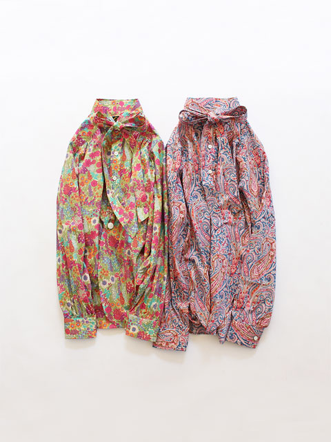 Needles (ニードルズ) Ascot Collar EDW Gather Shirt - Liberty Print (リボン)