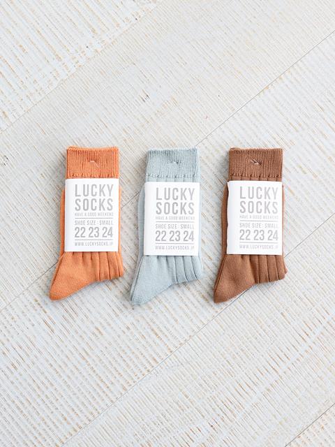 【30%OFF】LUCKY SOCKS × G.F.G.S.(ラッキーソックス)Natural Dyed Pure Organic Cotton Socks (ピュアオーガニックコットンクルーソックス)