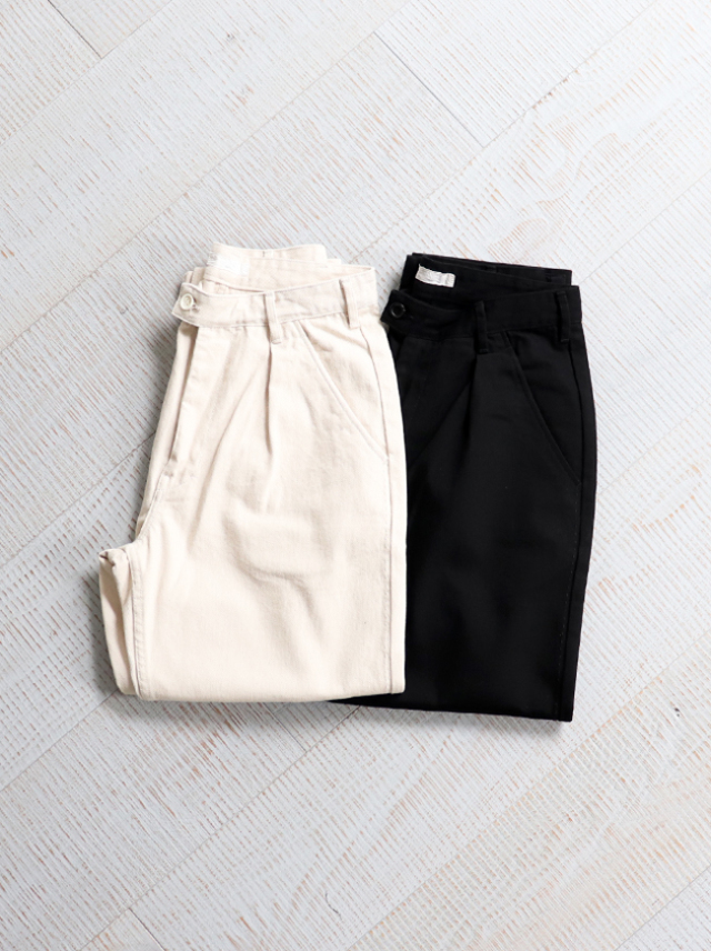 【50%OFF】 HATSKI(ハツキ)Stitch Loose Tapered Trousers -Katuragi