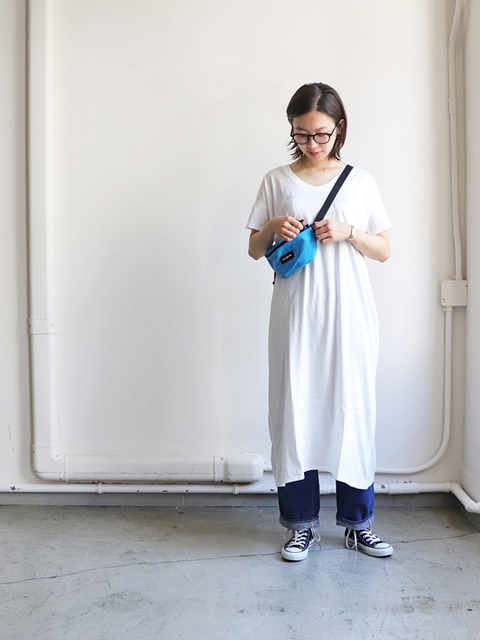 maillot(マイヨ) Smooth Cotton Girls Uneck OnePiece(スムースコットンガールズUネックワンピース) MAC-17235