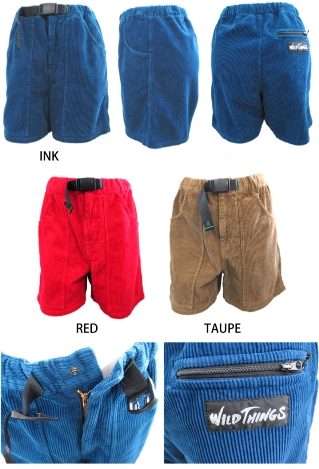 【メンズウェア】WILDTHINGS CORD CLIMBING SHORT WT070082